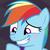 Rainbow Dash - Blushing Madly by DarthWill3