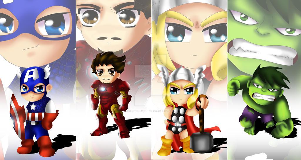Avengers Chibi by ExoroDesigns on DeviantArt