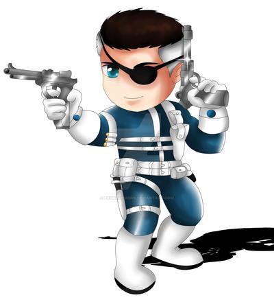 Nick Fury Chibi by Exo...