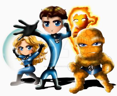 Fantastic Four Chibi by ExoroDesigns