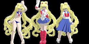 Sailor Moon Crystal Model DL by Gummi-Candy