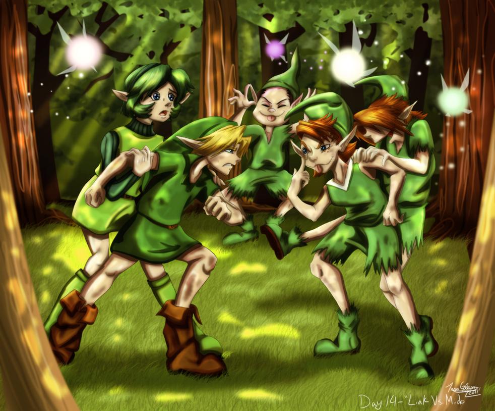 day 14 link vs - Link Et Zelda