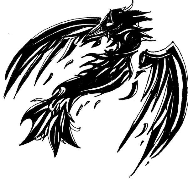 crow tattoo design by celticmagician on deviantart. Black Bedroom Furniture Sets. Home Design Ideas