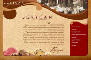 GRYCAN web site project by frogstudio