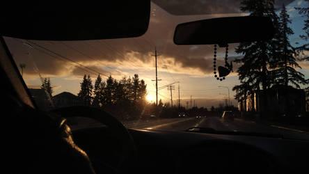 Sunset on My Birthday, Today (3/07)