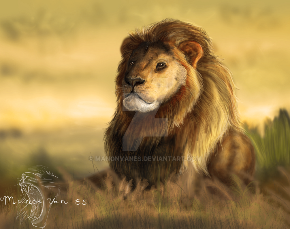 Cecil The Lion by manonvanes