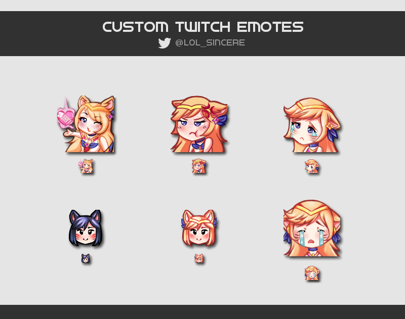 Custom Twitch emotes by ponpome on DeviantArt