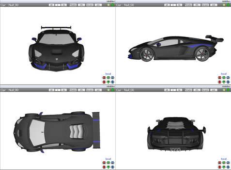 [MMD] Sports Car - Lamborghini Aventador (WIP)