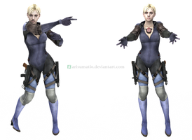 [MMD] RE5 Jill Valentine Battlesuit by arisumatio