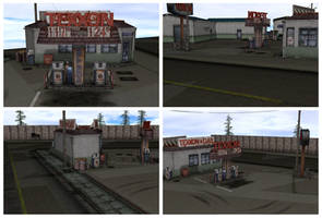 [MMD] Texxon Gas Station Silent Hill Stage by arisumatio