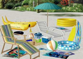 MMD Beach Addons Packs by arisumatio