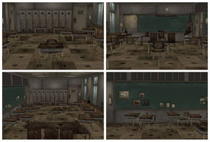 [MMD] Creepy Classroom Silent Hill Stage by arisumatio