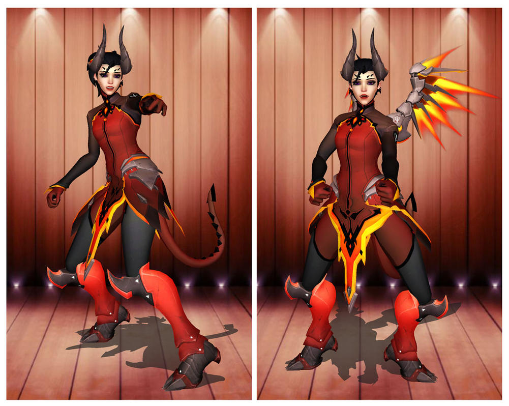 [MMD] Overwatch Mercy Devil by arisumatio on DeviantArt