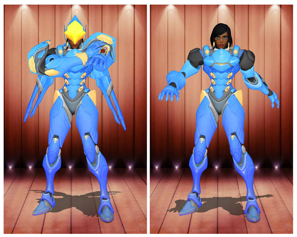 MMD] HOTS Tracer Base Skin by arisumatio on DeviantArt