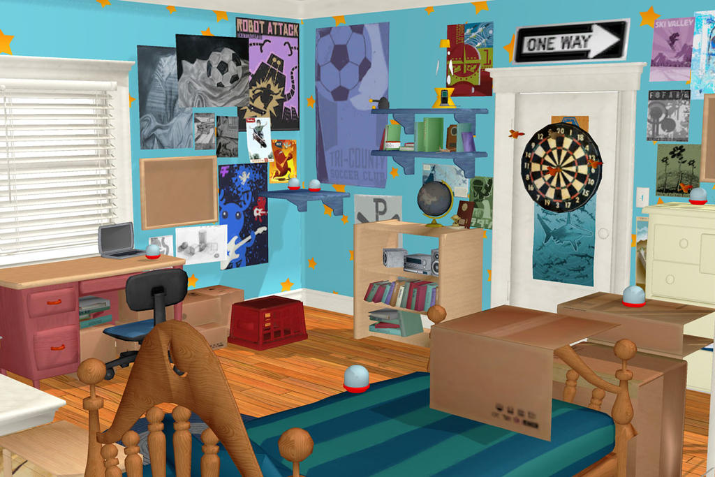 Mmd Toy Story 3 Andy S Room By Arisumatio On Deviantart