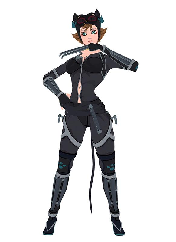 Mmd Ij2 Catwoman Batman Ninja By Arisumatio On Deviantart