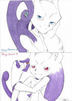Mega Mewtwo X and Y - Smile by Nell-tu-lover
