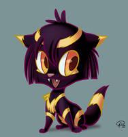 Cleopatra the kitten by GantzAistar
