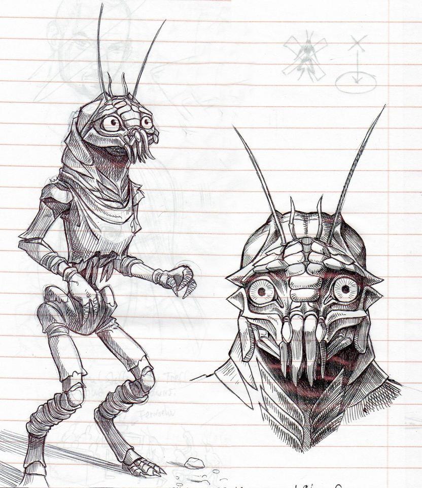 district 9 sketches by gantzaistar on deviantart