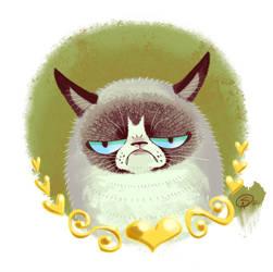 Tard the Grumpy Cat by GantzAistar