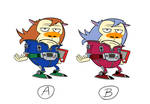 A or B