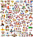 The 179 faces of Kirby
