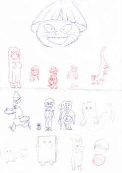 Gegege no Kitaro random character sketches