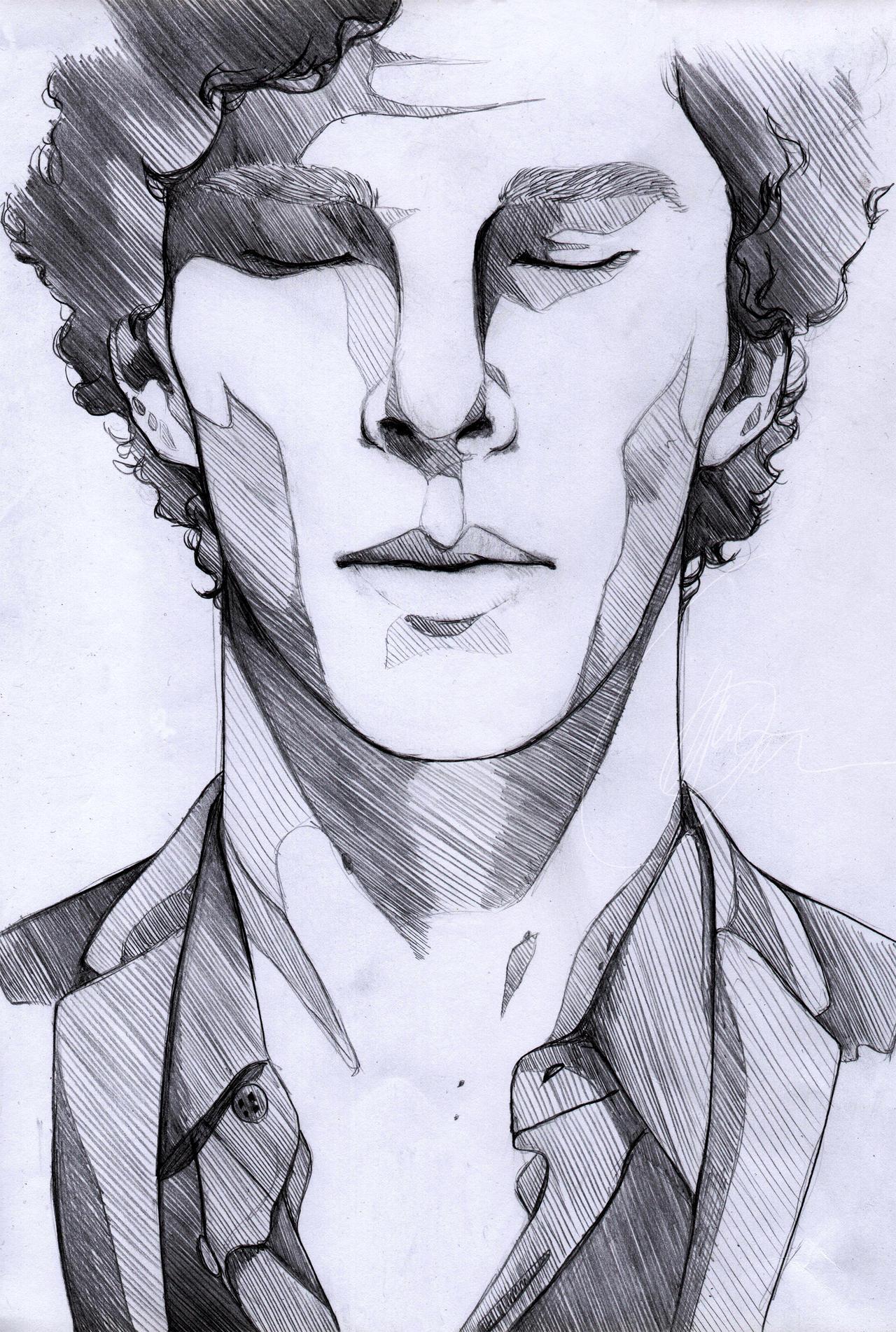 Как нарисовать Шерлока?