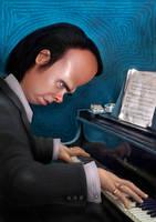 Nick Cave caricature 2010