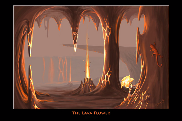 The Lava Flower by Icy-Flame