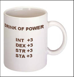 drink of power mug by Neurophoria