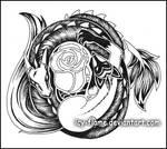 Dragon-Fox-Rose tattoo