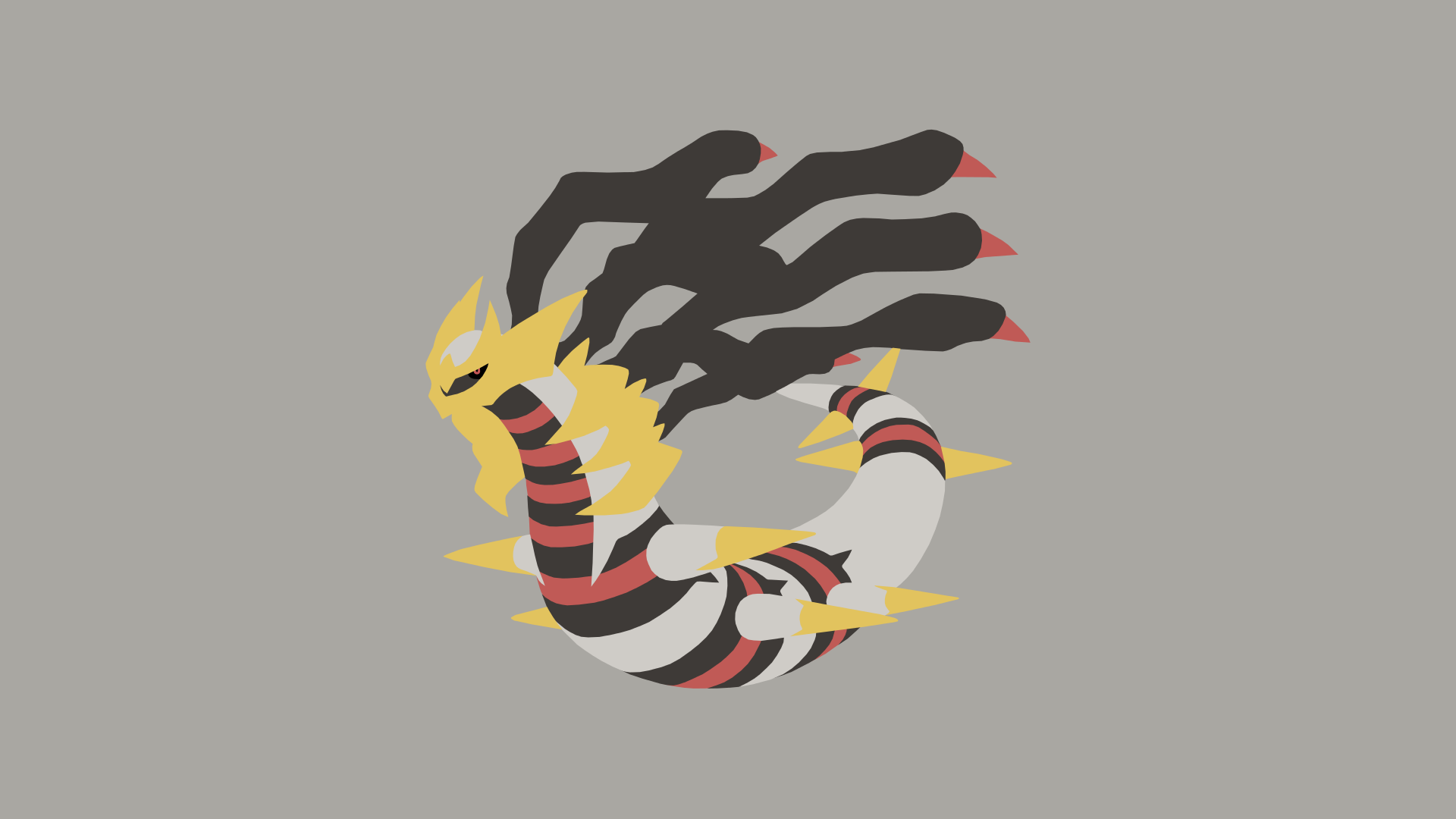 Minimalistic Wallpaper: Giratina [Origin] (#487.1) by MardGeerT on ...