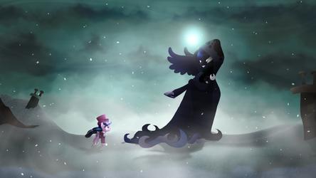 . : Luna's Future [Redraw] : . by Catacalysm