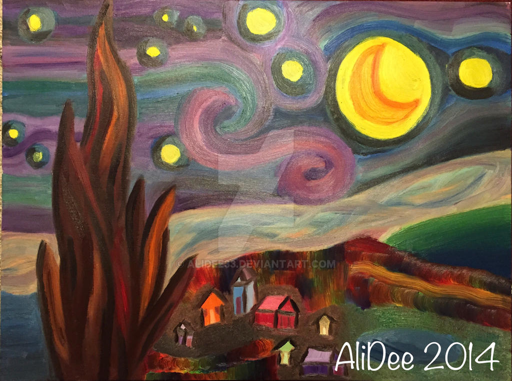 Van Gogh Starry Night Rendition by AliDee33