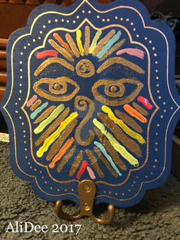 Rainbow Eyes of Buddha with Sparkles