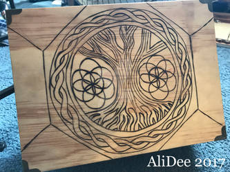 Tree of Life Woodburned Outline