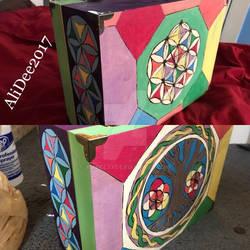 Finished Sides Rainbow Symbolic Wood Box