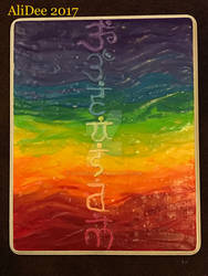 Clay on Wood: Rainbow Chakras