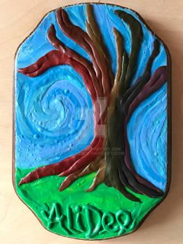 Clay on Wood: Rainbow Tree