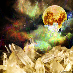 Crystals Charging by the Moon