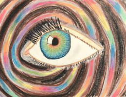 Chalk Pastel Eye with Rainbows by AliDee33