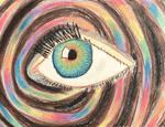 Chalk Pastel Eye with Rainbows