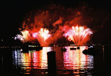 Fireworks on the River Stock Photo by AliDee33