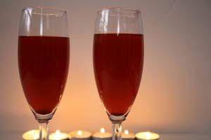 Romantic Wine Glasses Stock Photo by AliDee33