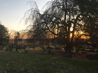 Cemetery Sunrise 1 Stock by AliDee33