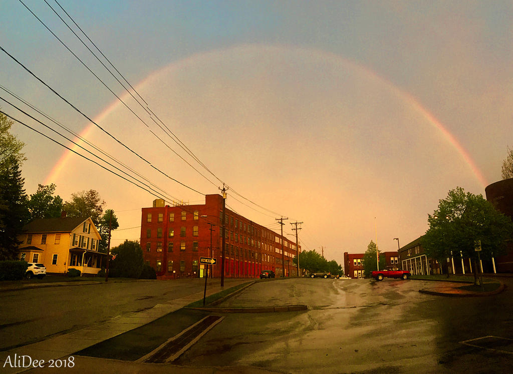 Rainbow Over the City by AliDee33
