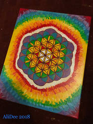 Flower of Life Rainbow Burst by AliDee33
