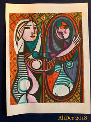 Picasso's Young Girl in Front of a Mirror (1932) by AliDee33