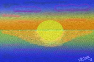 Sunrise Digital Painting by AliDee33